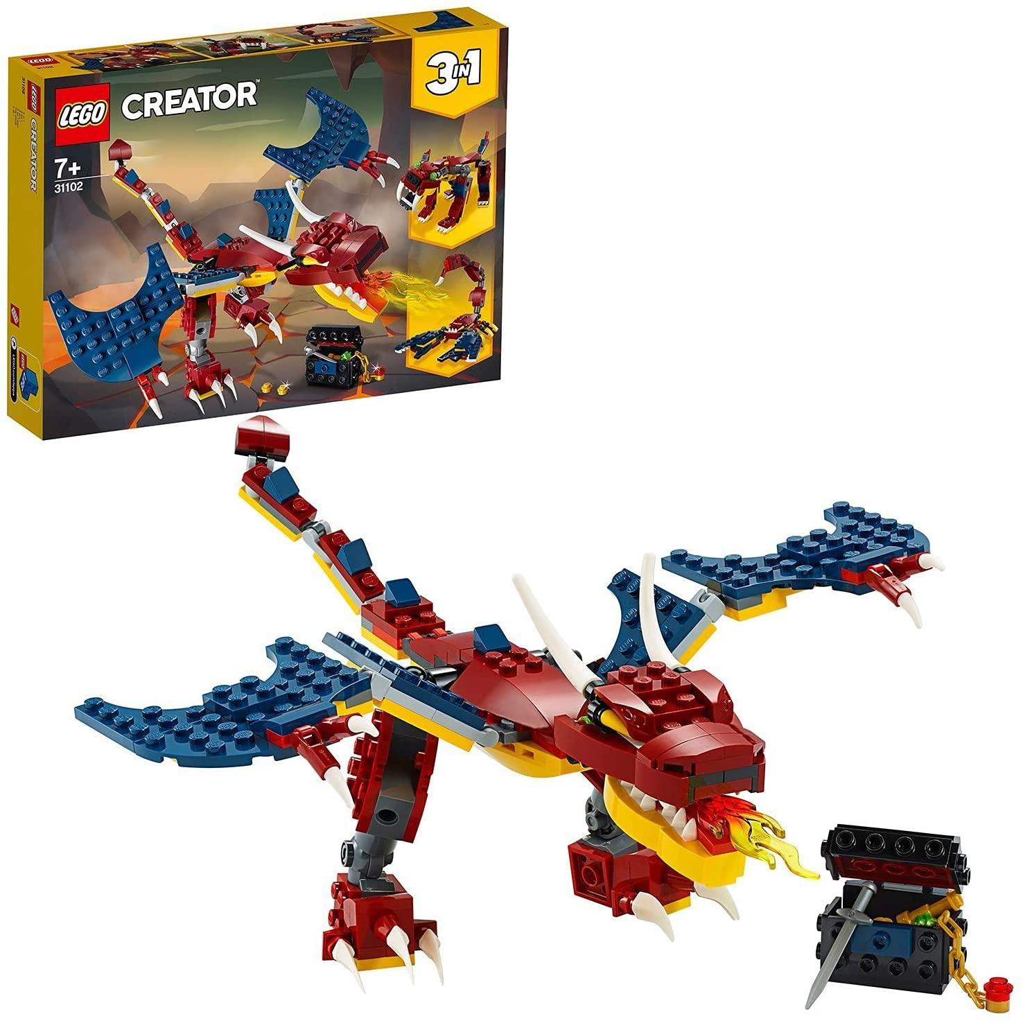 LEGO Creator 3-in-1 Feuerdrache 31102
